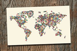 World Abstract Map