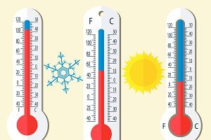 Thermometer Celsius and Fahrenheit