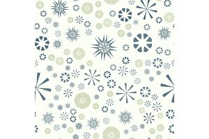Abstract simple seamless pattern for design. Vector background with geometric stars and flowers. Circular colorful texture for textile, warping paper, clothes