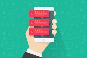 Online Review Testimonials Vector