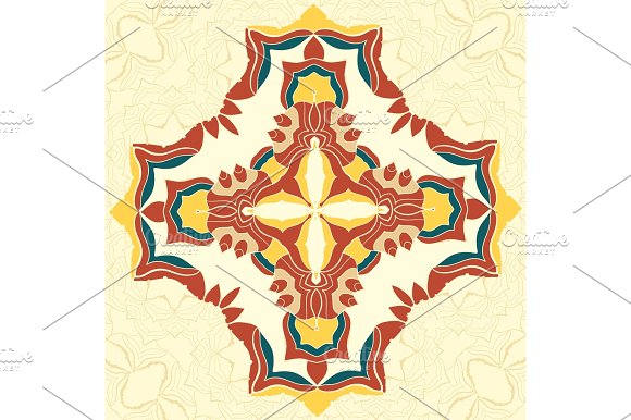 Brown And Yellow Vector Mandala Decorative Element For Your Design Lace Ornament Round Pattern A Lots Of Details Oriental Style Floral Black Pattern