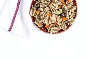 Italian pasta raw