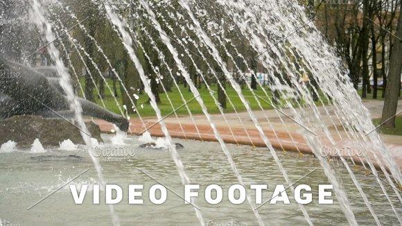 Water Drops In Fountain Slowmotion 180 Fps