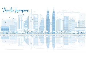 Outline Kuala Lumpur Skyline
