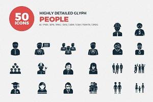 Glyph Icons People Set