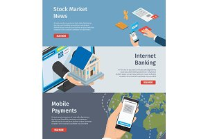 Smart Internet Banking Promotion Page Illustration