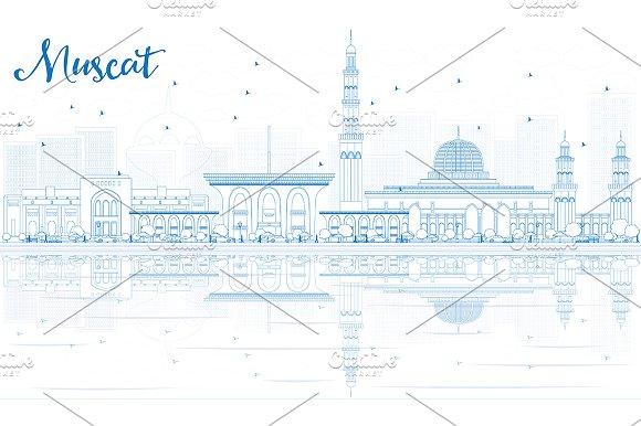 Outline Muscat Skyline