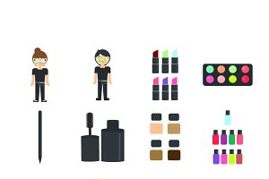Makeup artists icons