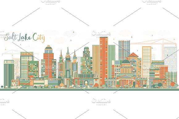 Abstract Salt Lake City Skyline