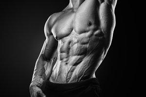 Muscular young bodybuilder