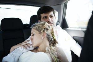 Woman sleeping on her husbands