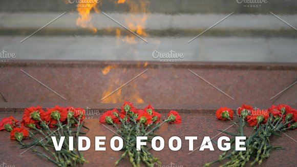 Eternal Flame On The Victory Square In Minsk Belarus Slowmotion 180 Fps