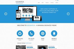 Elegantica - Website PSD Template