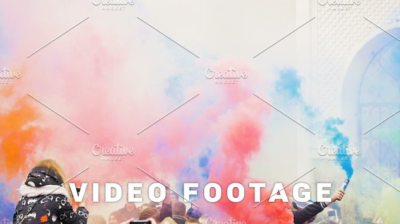 Festival Of The Colored Smoke Slowmotion 180 Fps