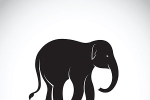 Vector of an elephant.