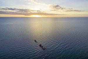 Aerial view of shipwreck Cerberus