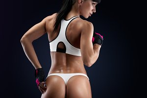 Slim and fit female athletic body
