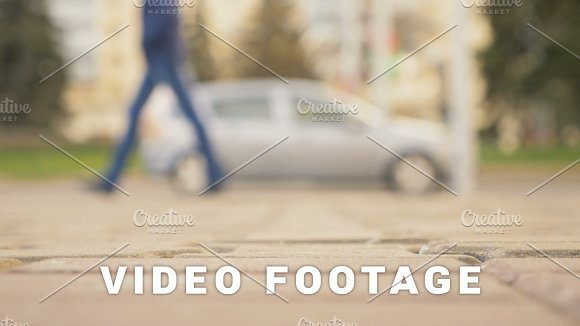 People Walking On The Street Of The City Slowmotion 180 Fps