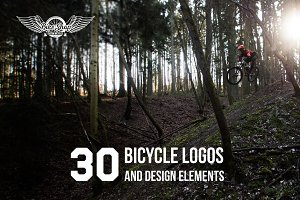 Bicycle logos and design elements