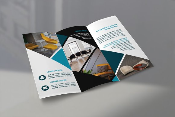 furniture tri fold brochures brochure templates creative market