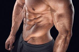 Male bodybuilder torso
