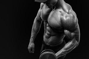 Perfect physique sportsman