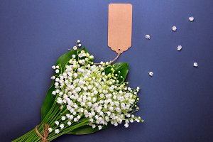 Bouquet of white lily-of-the-valley