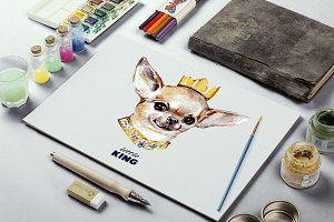 Dog hand drawn. Toy Terrier