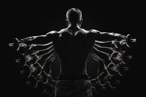 Bodybuilder turned back