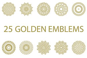 25 golden emblems