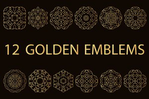 12 golden emblems