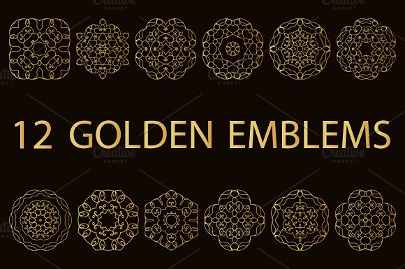 12 Golden Emblems