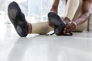Ballerino wearing ballet shoes