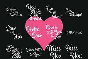 Valentines words