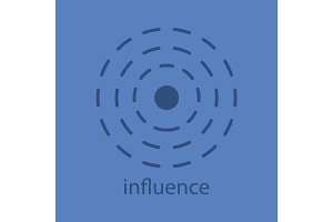 Influence glyph color icon