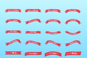 Valentines banner words