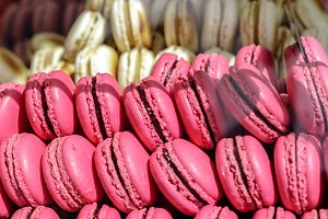 French colorful macarons assortment