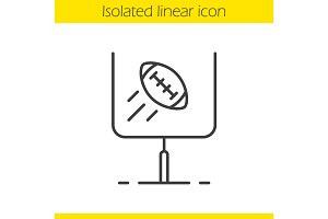 American football or rugby goal linear icon