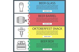 Beer web banner templates set