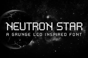 Neutron Star - LCD inspired font