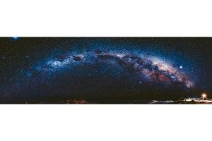 Milky Way in Antarctica. Vernadsky Station