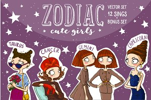 Zodiac cute girl