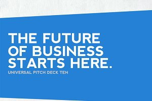 Universal Pitch Deck Ten PowerPoint