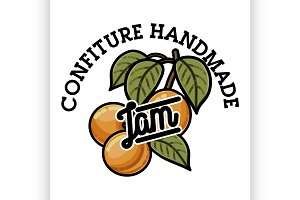 Color vintage confiture emblem
