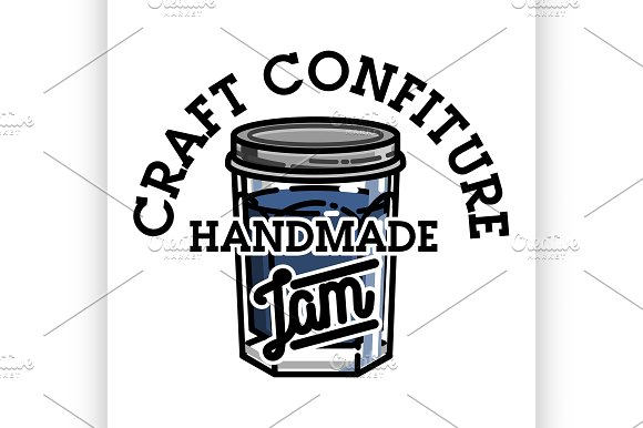 Color Vintage Confiture Emblem