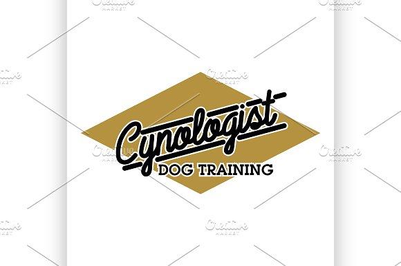 Color Vintage Cynologist Emblem