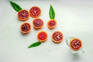 Fresh citrus fruits for breakfast