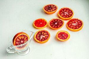 Glass citrus vitamins
