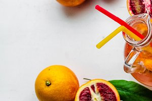 sour and sweet cocktail of orange
