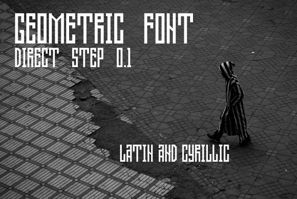Direct Step 0.1 Geometric Font